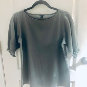 🌱Olive - gray Ann Taylor blouse